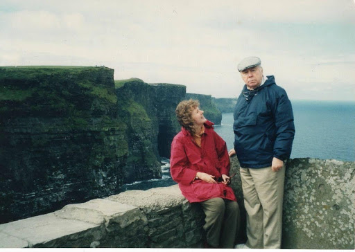Pat Duffy and her father - Ireland